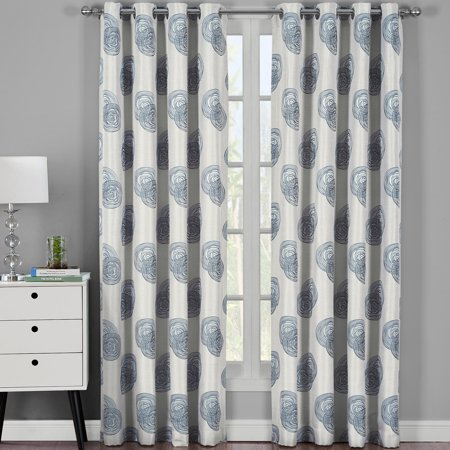 Lafayette Modern Abstract Jacquard Curtain Panels With Grommets ( Set of 2 Panels ) ()