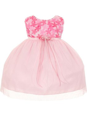 e3313e6a6 Product Image Kids Dream Baby Girls Pink 3D Chiffon Flowers Mesh Special  Occasion Dress 24M