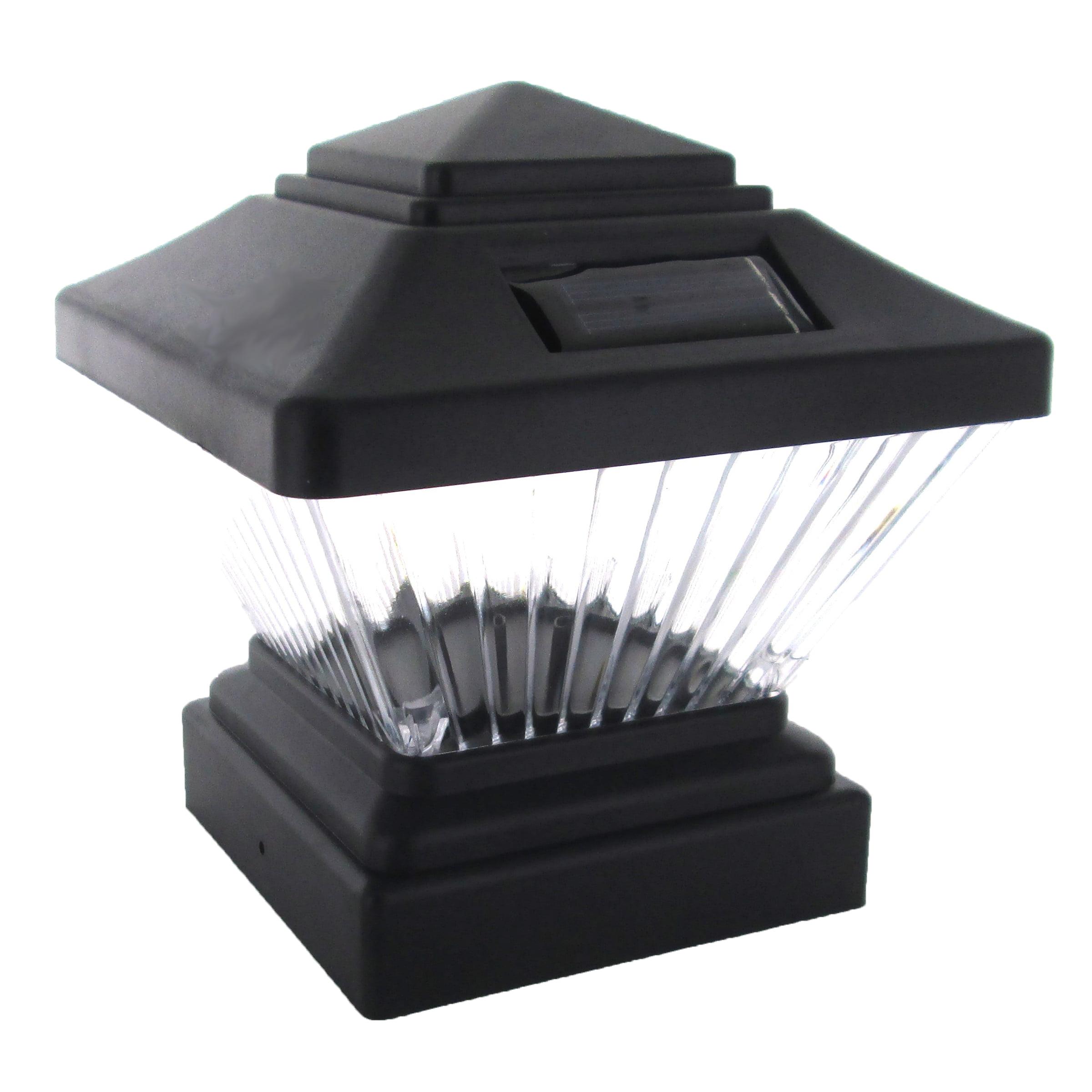 12 Pack Solar Black Outdoor Garden Deck Patio 4x4 Pvc Fence Led Post Light