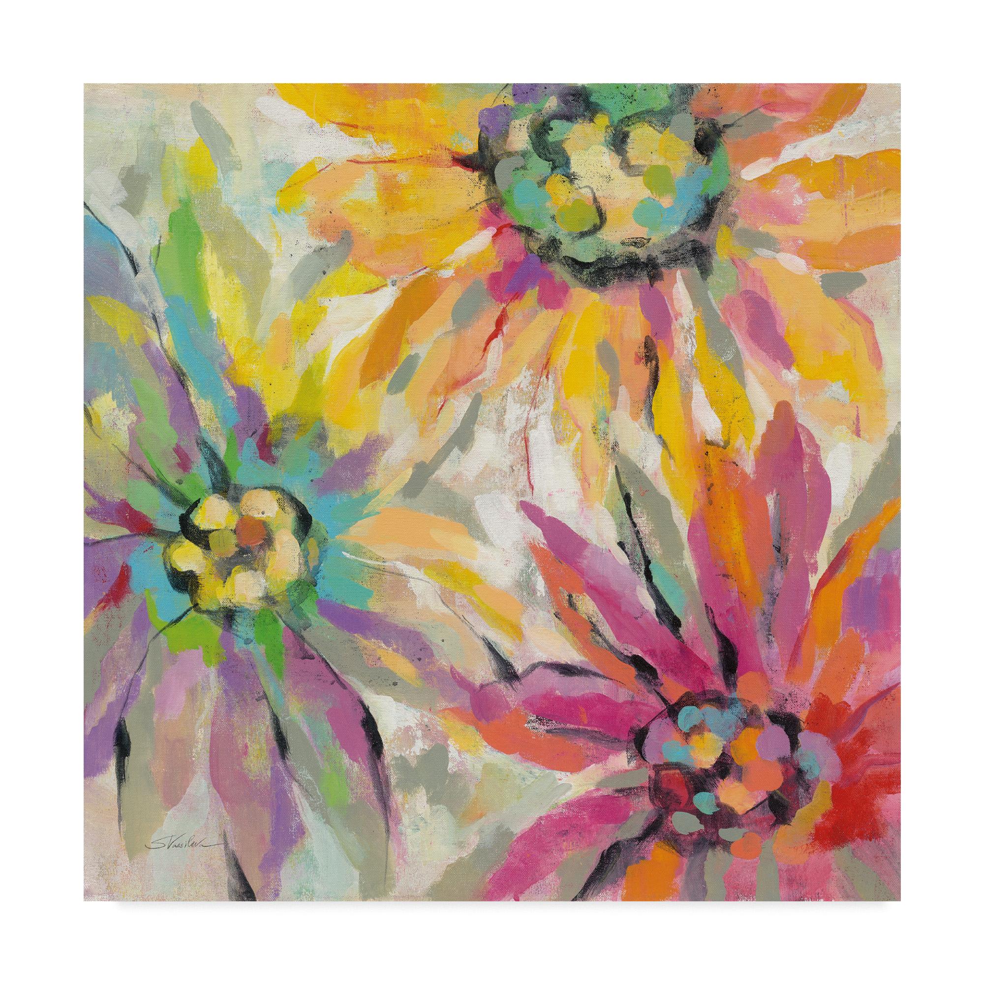 Trademark Fine Art 'Abstracted Petals I' Canvas Art by Silvia Vassileva