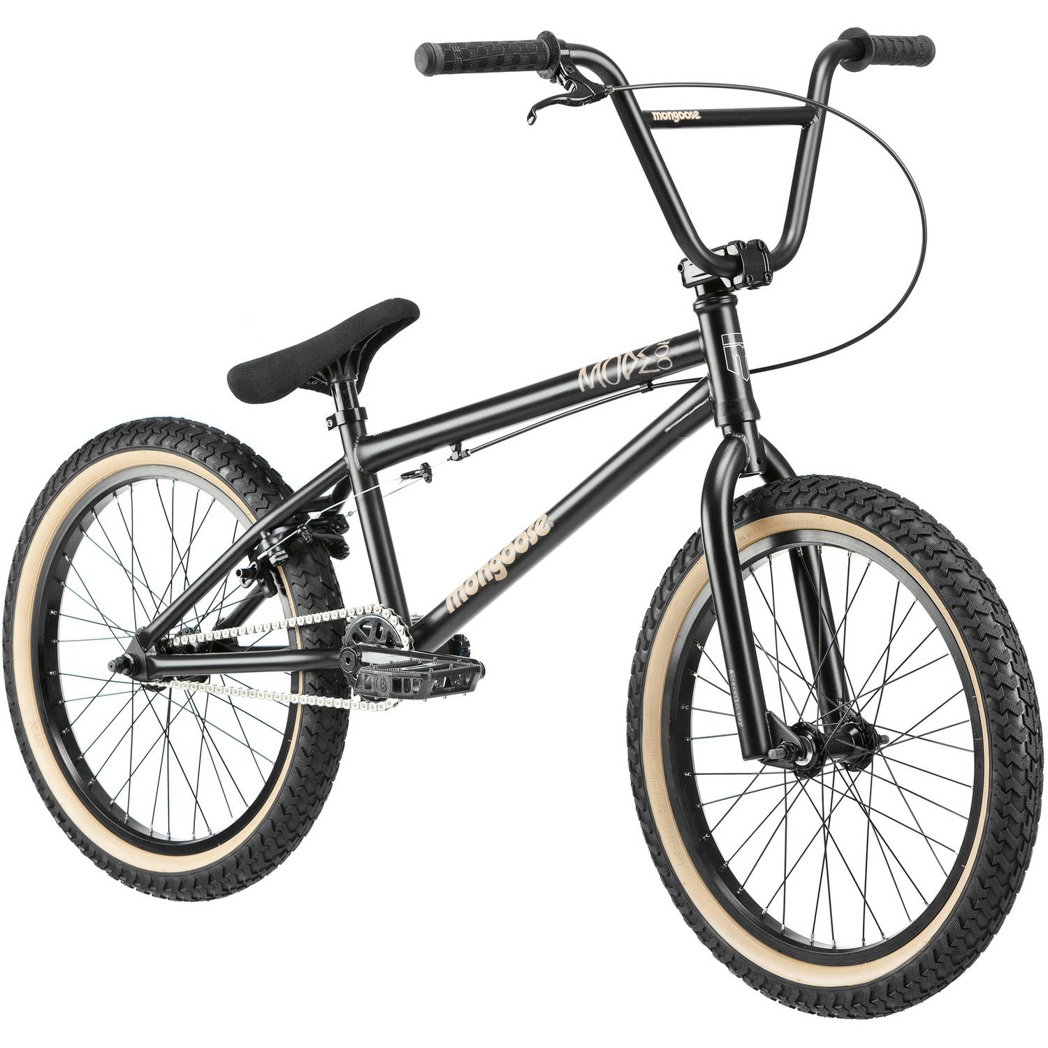 "20"" Mongoose Mode 900 Boys' Freestyle Bike, Matte Black"