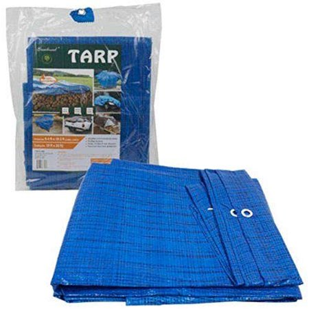 16 ft X 12 ft Waterproof Multi Purpose Water Proof Blue Tarp Poly Cover for Roof Car 10x20 Blue Poly Tarp
