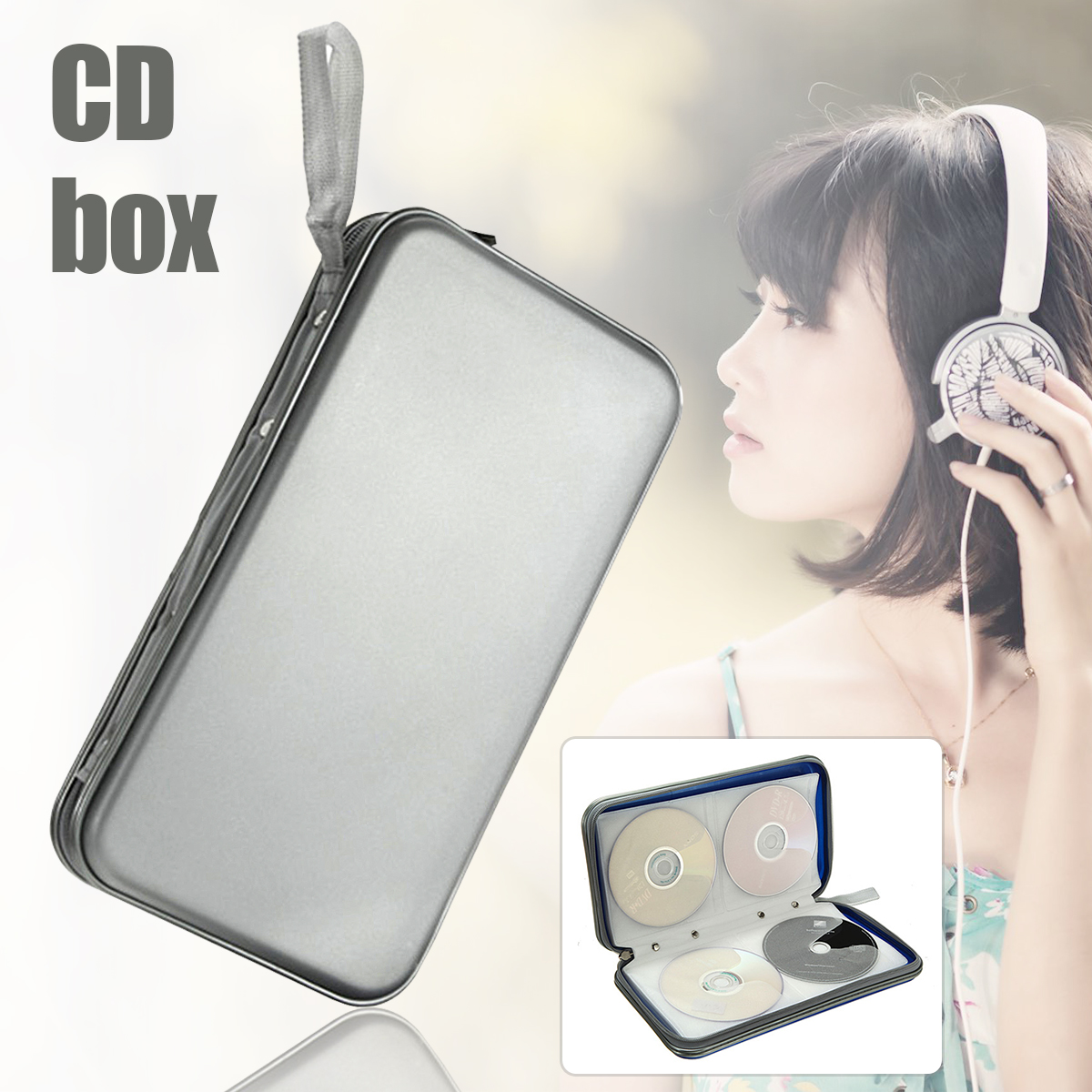 80 Disc CD DVD Wallet Holder Storage Box Bag Case Album Organizer Media Storage