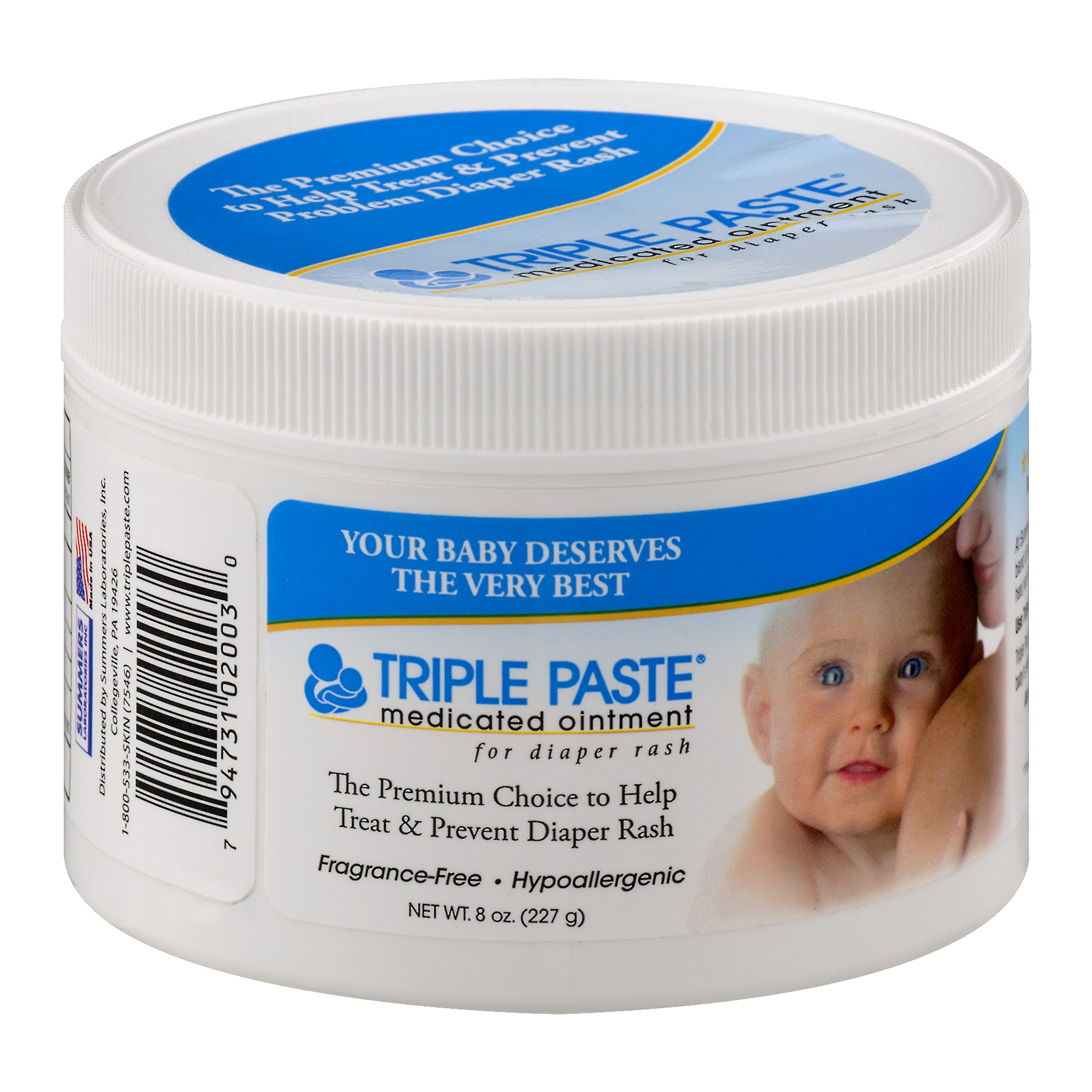 Triple Paste Medicated Ointment for Diaper Rash, 8 oz by Triple Paste