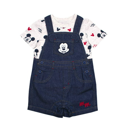 Denim Shortalls, 2pc Outfit Set (Baby (Christening Shortall)