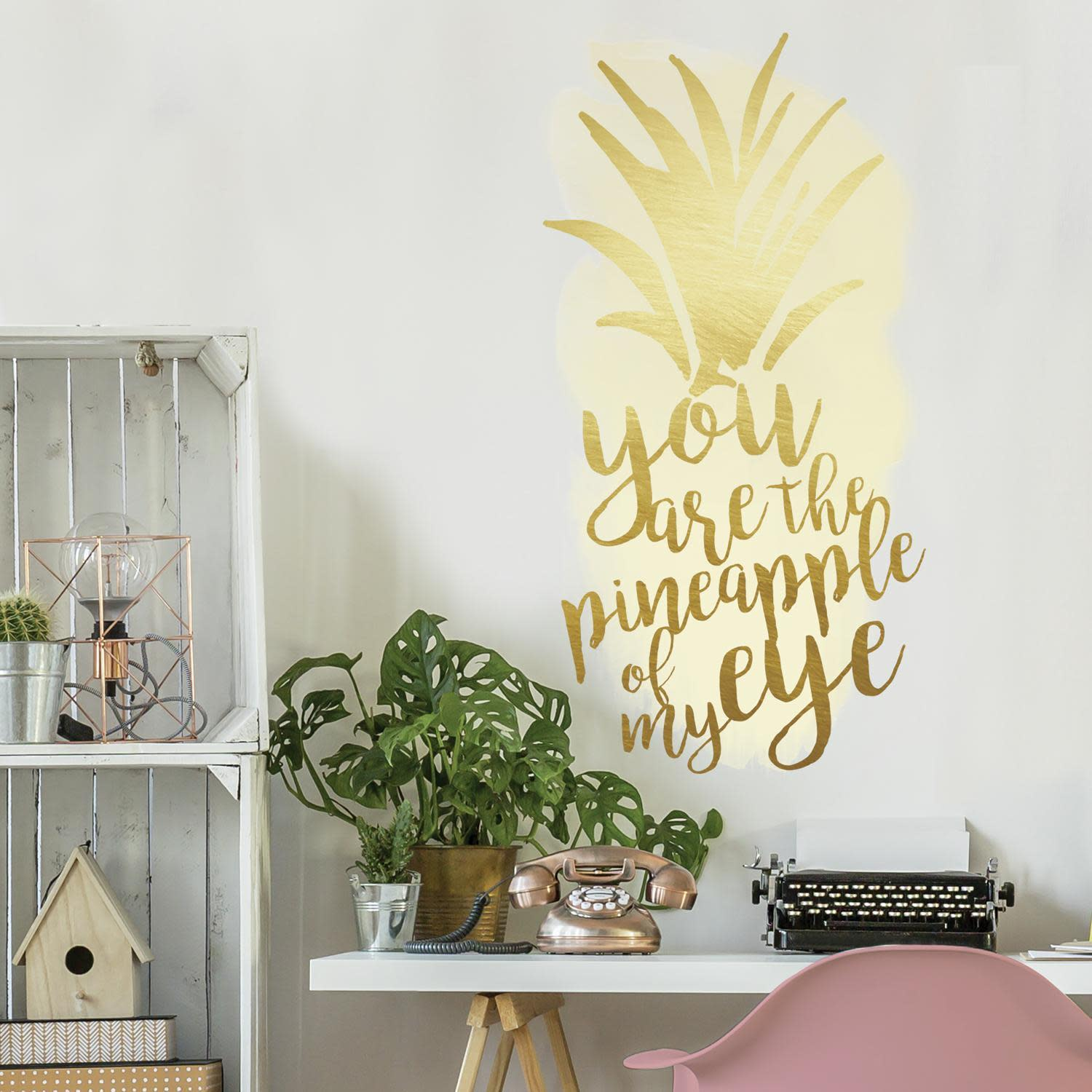 Pineapple Of My Eye Peel And Stick Wall Decals With Foil