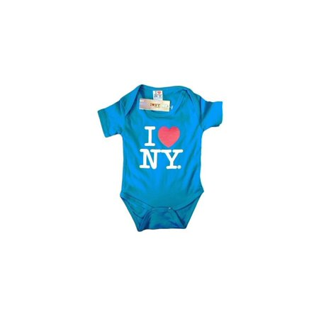 24 Months I Love Ny Turquoise Baby Bodysuit Baby Infant Screen Printed - I Love Ny Pajamas