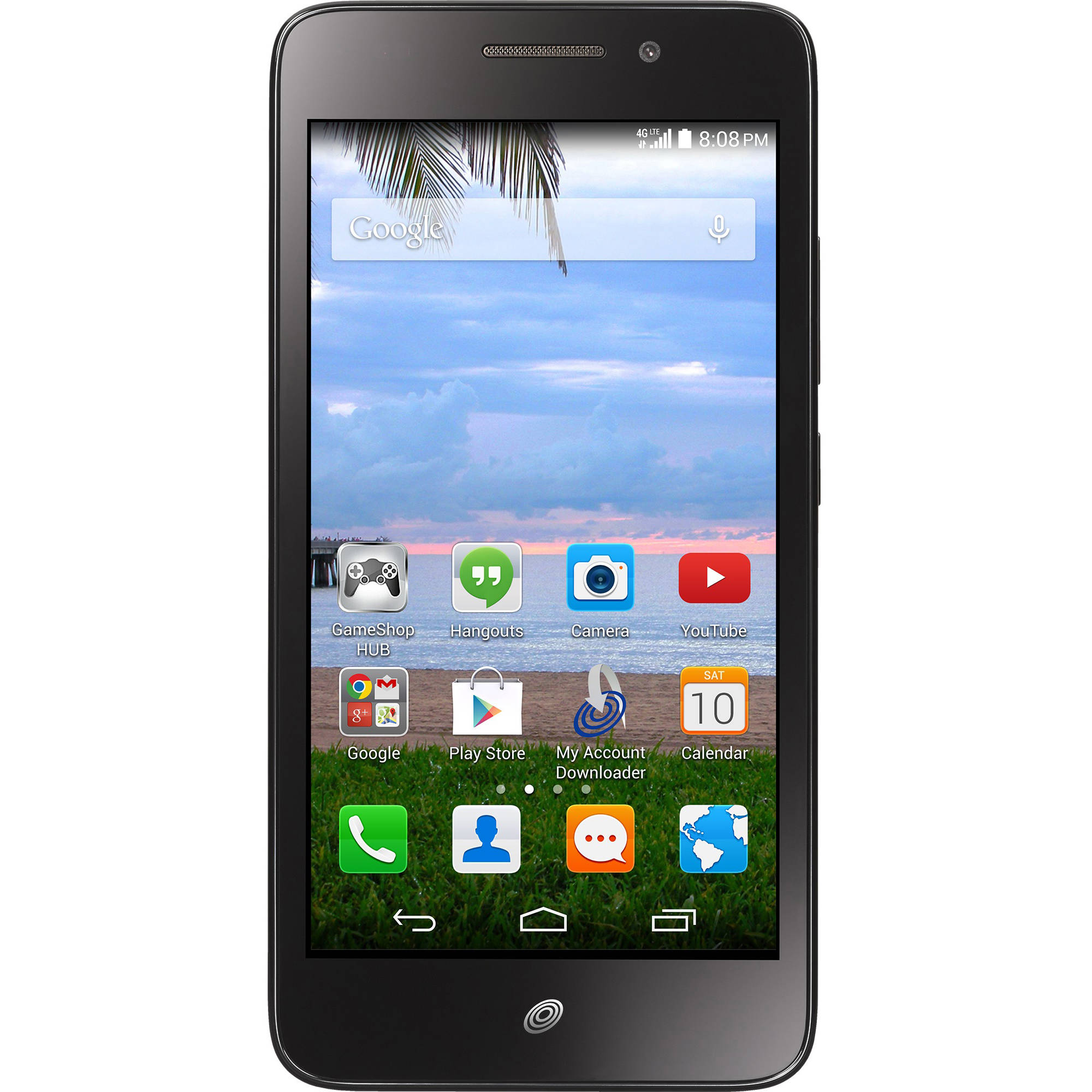 Straight Talk Huawei Pronto 4GB Prepaid Smartphone, Black
