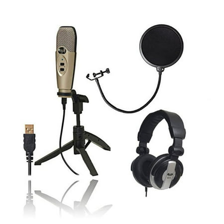 CAD Audio U37 USB Studio Condenser Vocal,Instrument & Recording Microphone With CAD Audio 6