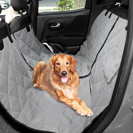 Waterproof Luxury Suv Van Car Hammock For Dogs Cats Back Rear Seat Cover Quilted Bllk