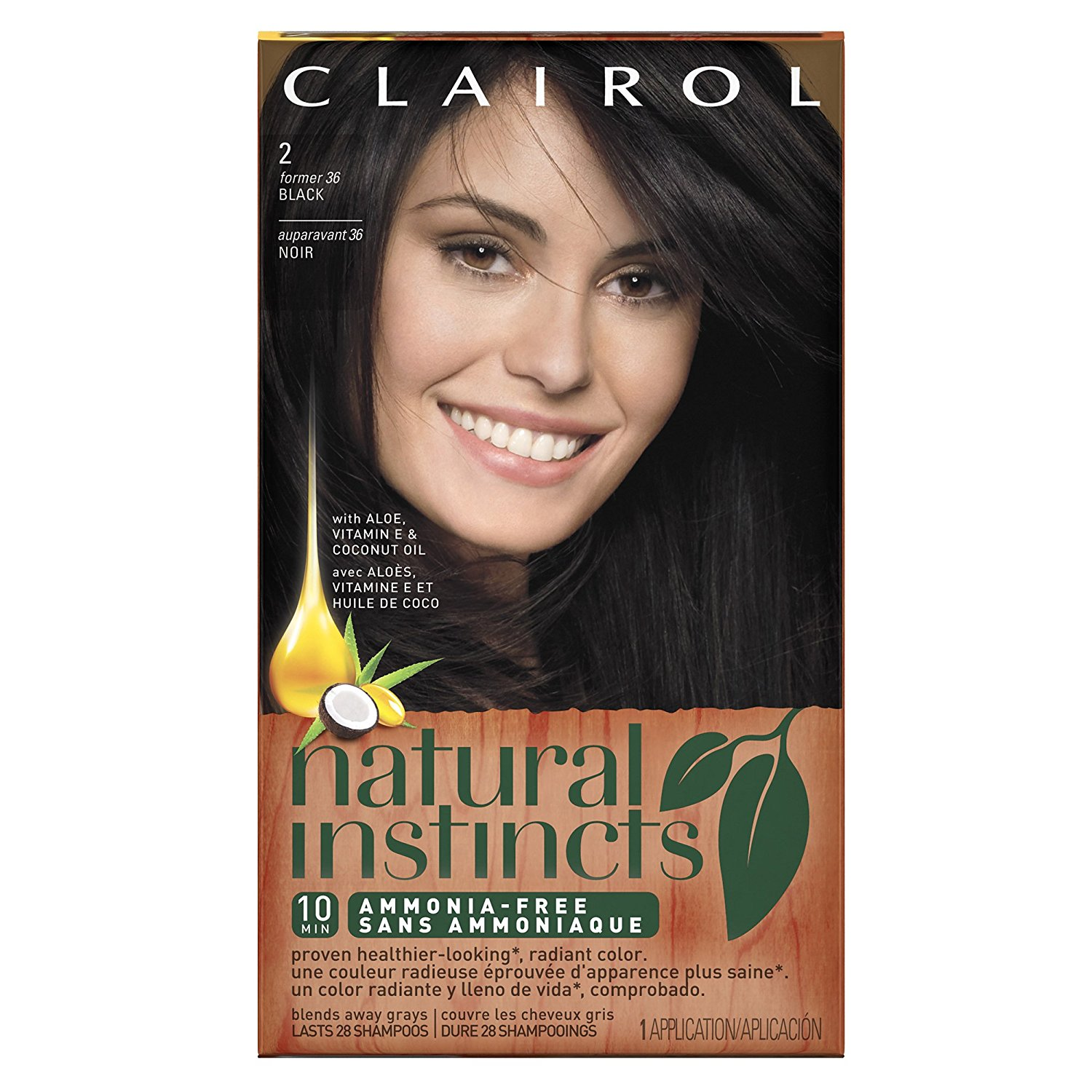 Natural Instincts 36 Midnight Black 1 Kit Pack Of 3 Neutral Each