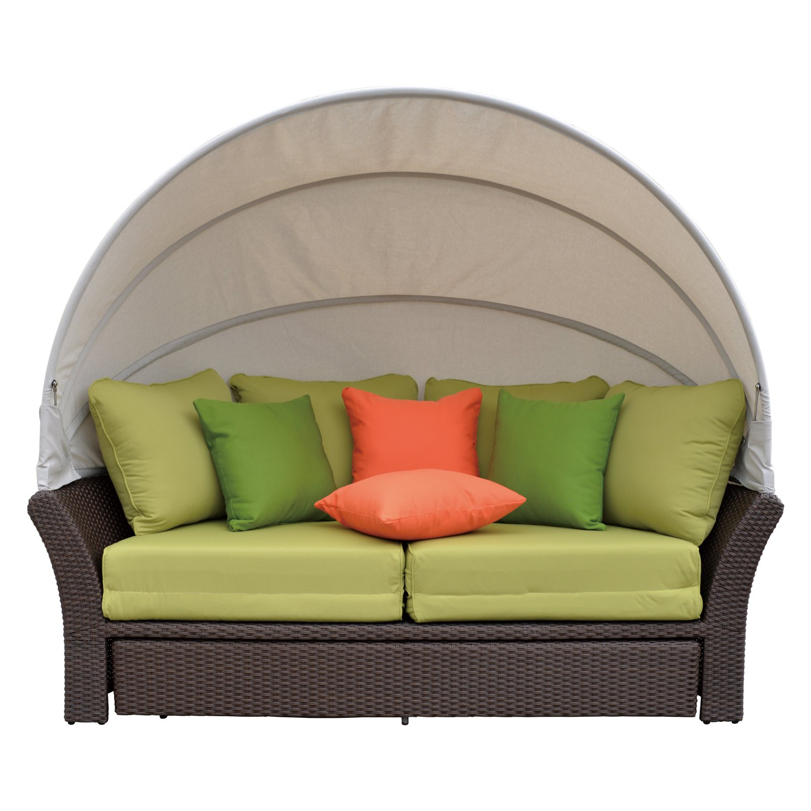 Coutyard Casual Green Eclipse Outdoor Expandable Oval Day Bed with Canopy by Courtyard Casual