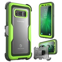 Galaxy S8 Active Case, Magma, i-Blason, Rugged Holster Case with Screen Protector - Green