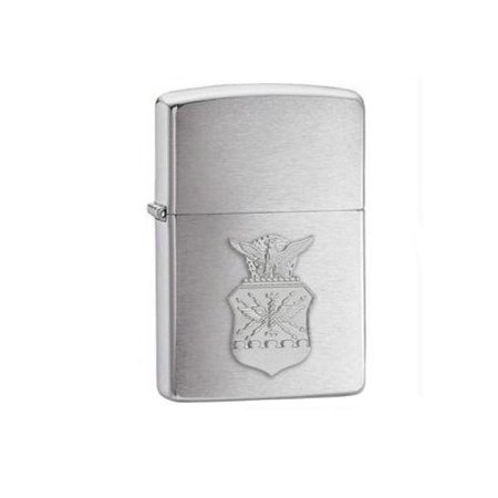 Zippo Brushed Chrome US Air Force Crest Emblem Lighter