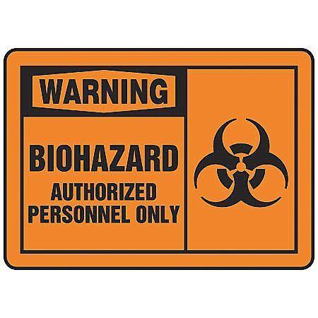 "ACCUFORM Warning Sign,10""x14"",Plastic MBHZ301VP"