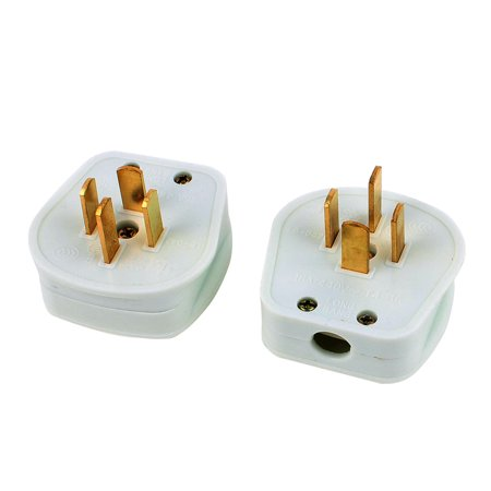 440V 16A Industrial Plug 4 Flat Pin 3 Phase 4 Wire Power ...  Wire To Adapter Plug on
