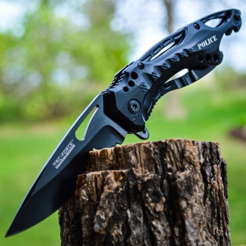 """8"""" TAC-FORCE POLICE SPRING ASSISTED OPEN Blade Folding Pocket Knife Switch, Rescue TANTO PBK205DS MTECH Sharp TacForce Black TACTICAL Blood Mtech.., By TAC Force"""