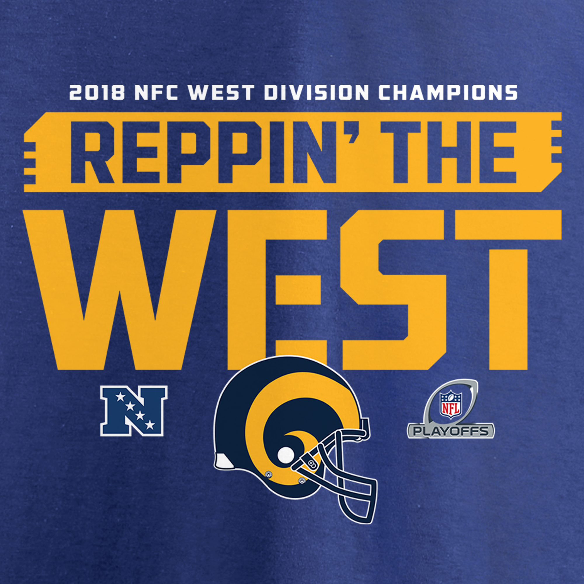 986158904 Los Angeles Rams NFL Pro Line by Fanatics Branded Women s 2018 NFC West  Division Champions Fair Catch Long Sleeve V-Neck T-Shirt - Royal -  Walmart.com