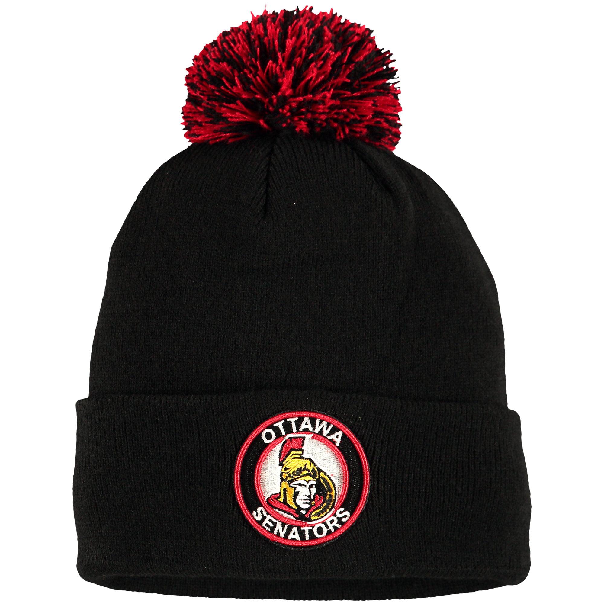 Ottawa Senators Zephyr Seal Cuffed Knit Hat - Black - OSFA