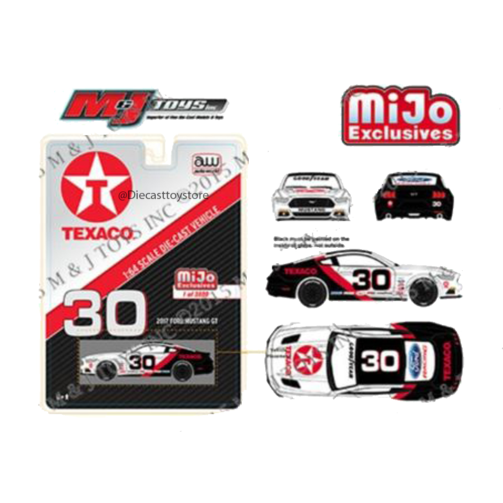AUTO WORLD 1:64 2017 FORD MUSTANG TEXACO RACING - MIJO EXCLUSIVE CP7438-24