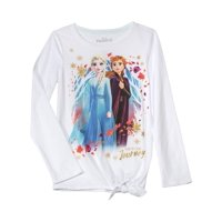 Disney Frozen 2 Side Tie Long Sleeve Graphic T-Shirt (Little Girls & Big Girls)
