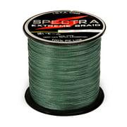 546 Yards/500M Braided Fishing Line - Moss Green Size:0.23MM/20LB