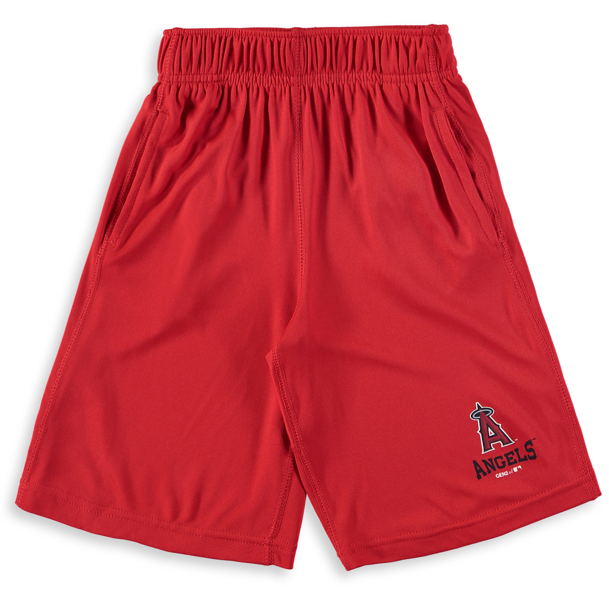 Los Angeles Angels Youth Link Up Performance Shorts - Red