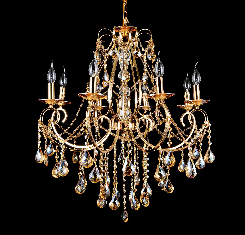 "B&S Lighting Inc 5390 8-Light Crystal Chandelier in 24K Gold Finish 31"" H x 32"" W by B&S Lighting Inc"