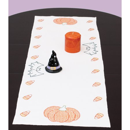 Jack Dempsey Halloween Stamped Table Runner, 15