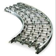 ASHLAND CONVEYOR 12X10X90G Skatewheel Conveyor,90 Curve,12in. W