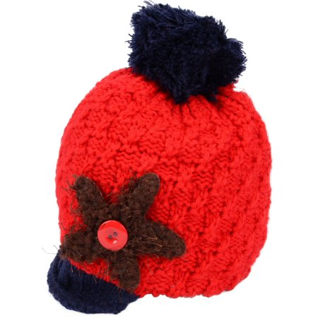 Kids Boys Girls Warm Chunky Thick Stretchy Knit Slouch Beanie Skull Hat
