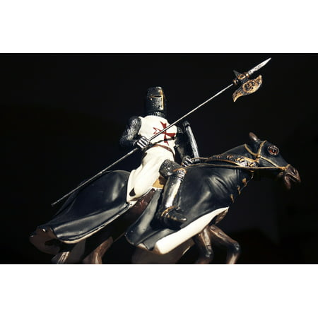 - LAMINATED POSTER Rider The Figurine Warrior Knight Crusader Poster Print 24 x 36