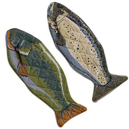 DII Fish Oven Mitt (Set of 2), 6x16.5