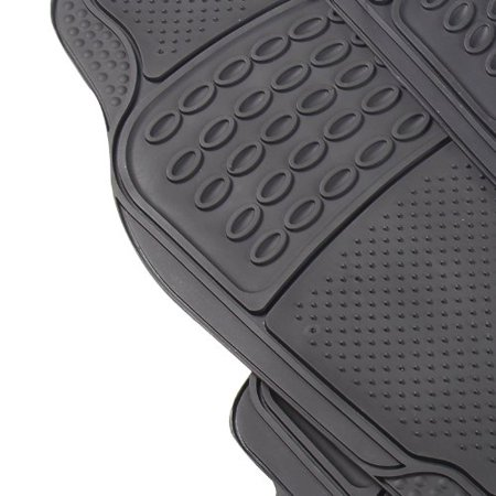 Real Camouflage Set Of 4 Piece Car Truck Floor Mat Set   Custom Fit All Weather Waterproof Rubber Material With Forest Pattern Black Color