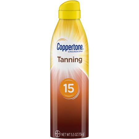 Coppertone Tanning Defend & Glow Sunscreen Spray SPF 15, 5.5