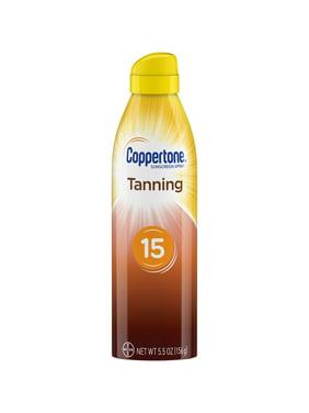 Coppertone Tanning Defend & Glow Sunscreen Spray SPF 15, 5.5 oz