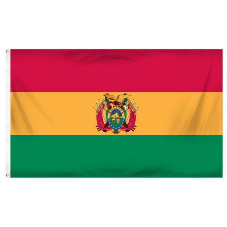 3ft x 5ft Bolivia Poly Flag with Seal