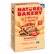 Nature's Bakery, Oatmeal Crumble, Strawberry, 10 Breakfast Snack Bars, 1.41 Oz each