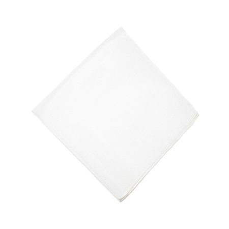 CTM®  Womens Silk Habotai Handkerchief, White