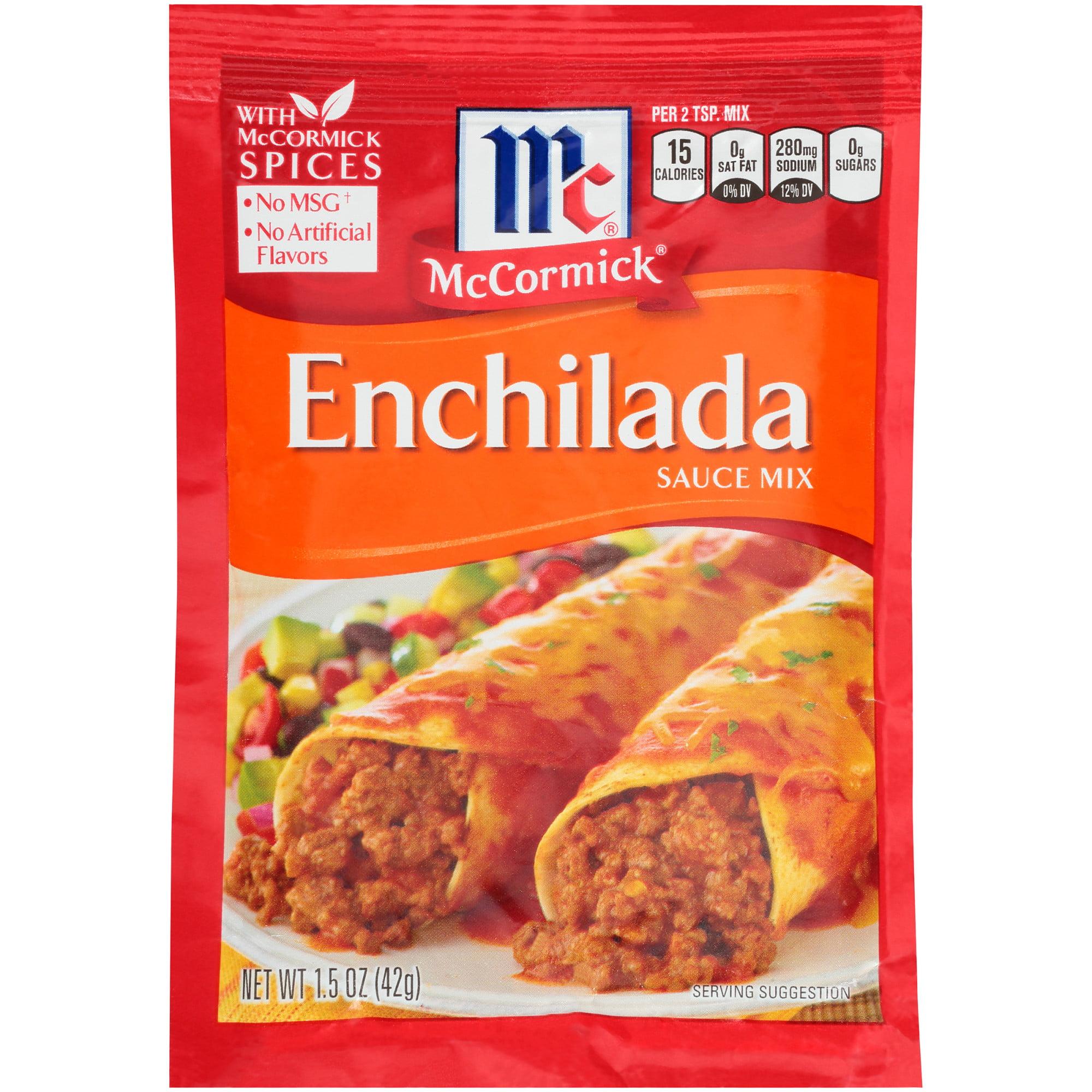 (4 Pack) McCormick Enchilada Sauce Mix, 1.5 oz
