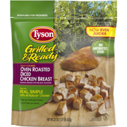 Tyson Grilled & Ready Fully Cooked Oven Roasted Diced Chicken Breast, 22 oz. (Frozen)