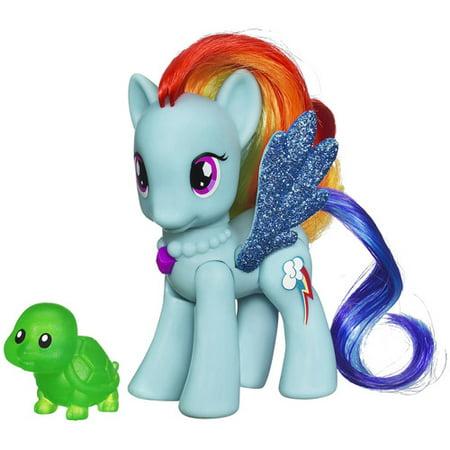 Squishy Muffinz Wave Dash : My Little Pony Crystal Motion Rainbow Dash Figure - Walmart.com