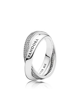 cbc269adb Product Image Ring in sterling silver w/clear CZ in sz 54 and engraving PAN Ring  sz