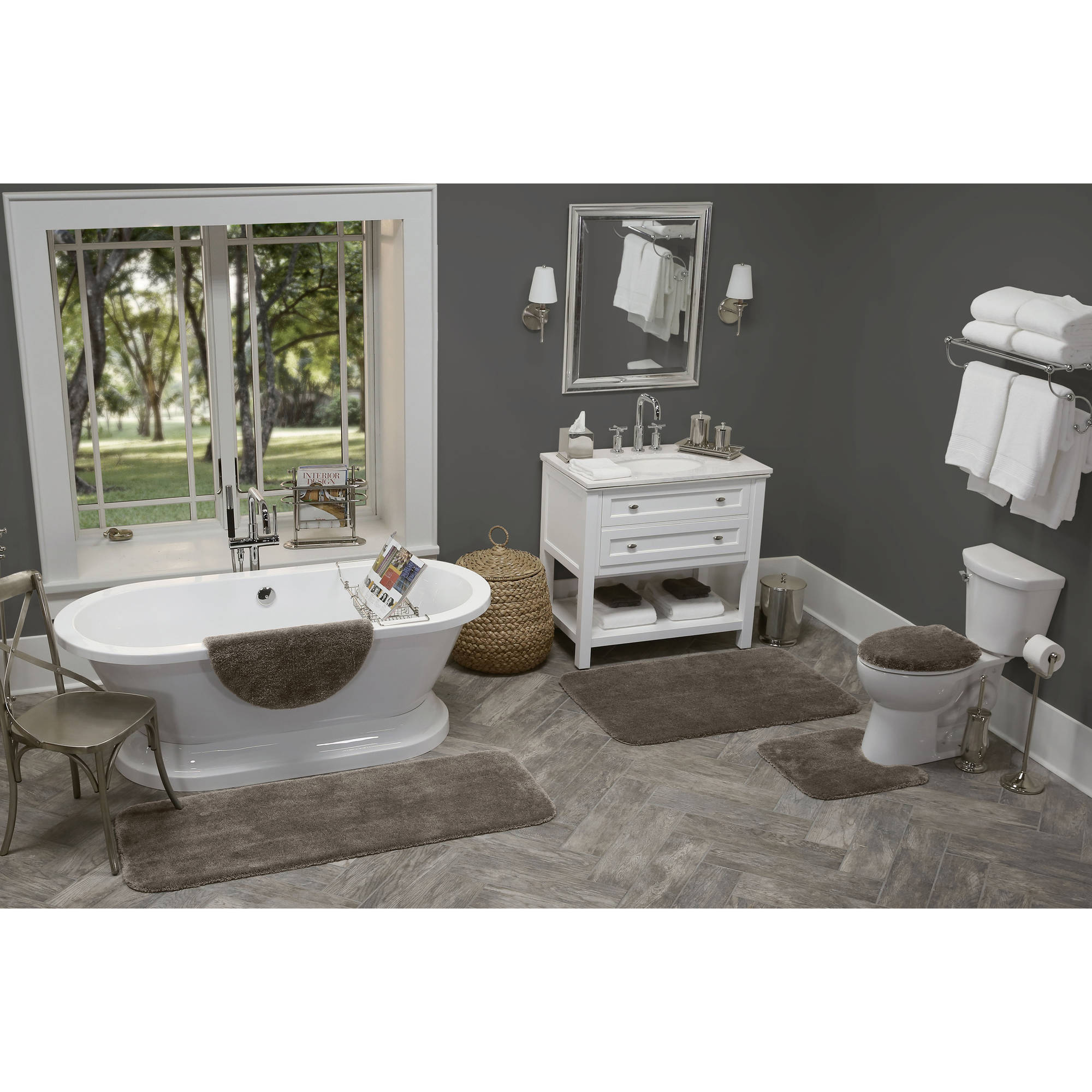 Better Homes and Gardens Extra Soft Round Bath Rug Collection