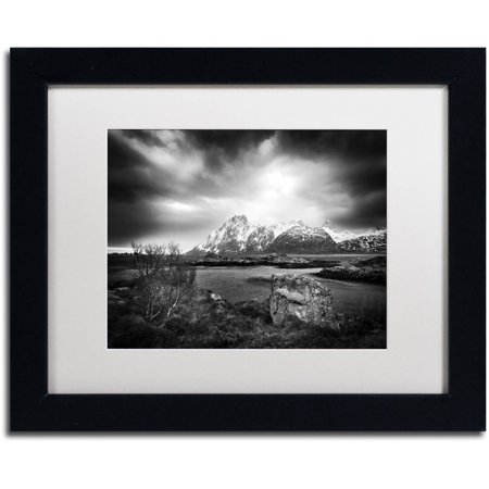 "Trademark Fine Art ""Ice Pick"" Canvas Art by Philippe Sainte-Laudy, White Matte, Black Frame"