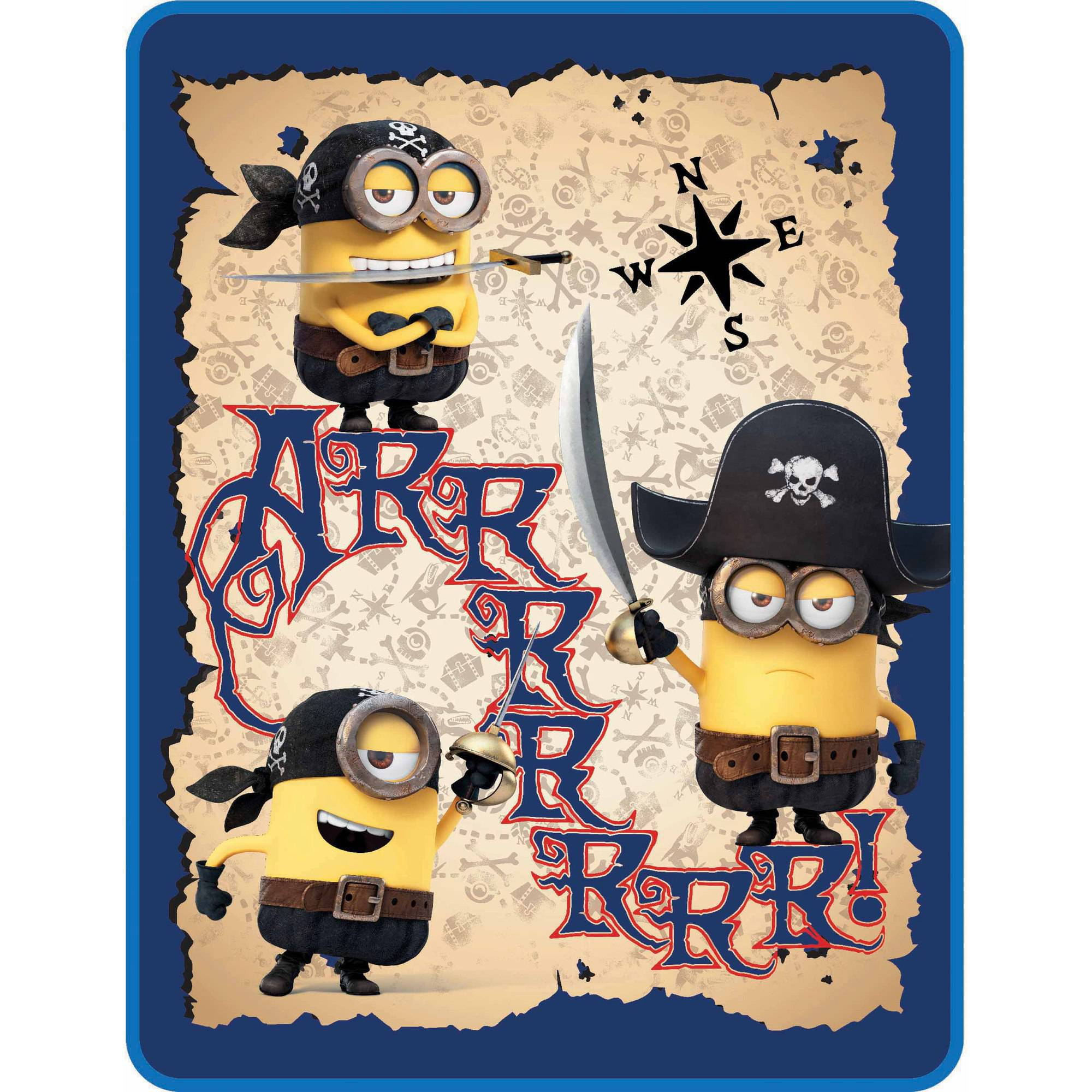 Universal's Despicable Me Minions Pirate Minions Sherpa Throw