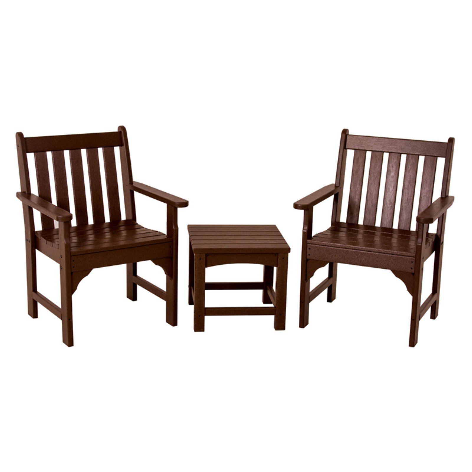 POLYWOOD® Vineyard Recycled Plastic 3 pc. Garden Chair Set