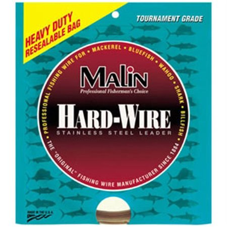 Malin Single Strand Stainless Steel Leader Coffee 42' Coil - .014 Diameter - 43Lb - Melton Tackle Single
