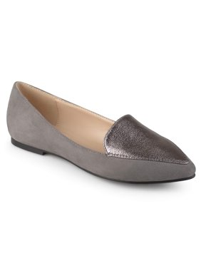 393d3e3d77437d Product Image Women s Pointed Toe Faux Suede Loafer Flats