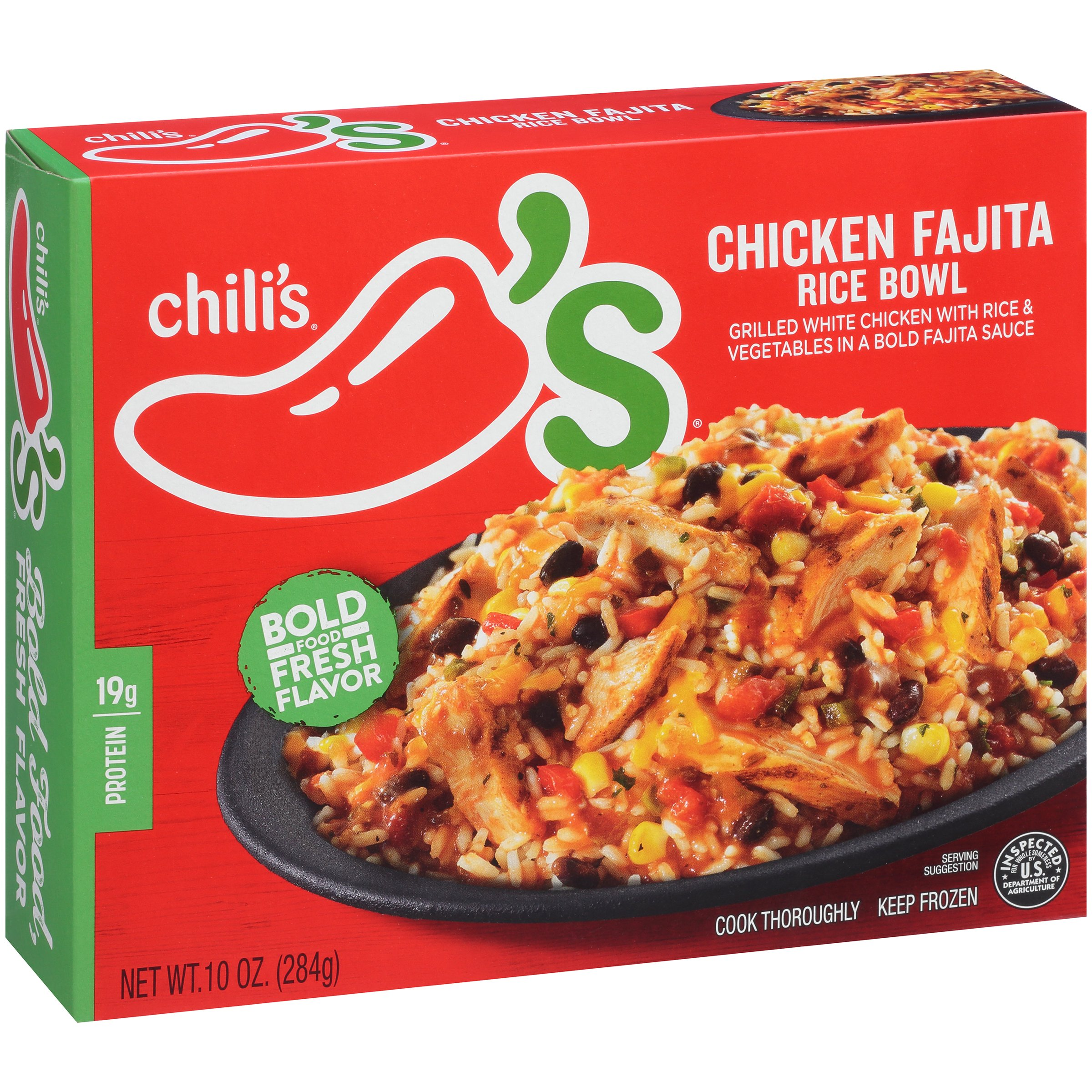 Chiliu0027s® Chicken Fajita Rice Bowl Frozen Dinner 10 Oz.